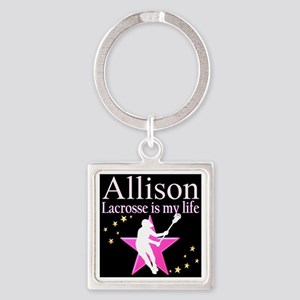 LACROSSE GIRL Square Keychain