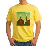 Turkey in Glasses Yellow T-Shirt