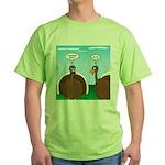 Turkey in Glasses Green T-Shirt