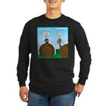 Turkey in Glasses Long Sleeve Dark T-Shirt