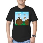 Turkey in Glasses Men's Fitted T-Shirt (dark)