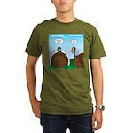 Turkey in Glasses Organic Men's T-Shirt (dark)