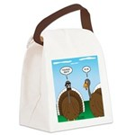 Turkey in Glasses Canvas Lunch Bag