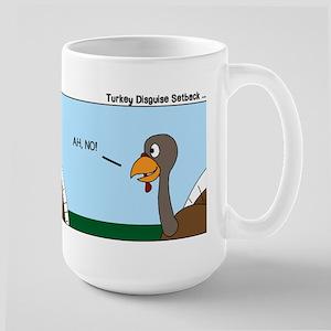 Turkey in Glasses Large Mug