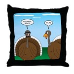 Turkey in Glasses Throw Pillow