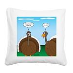 Turkey in Glasses Square Canvas Pillow