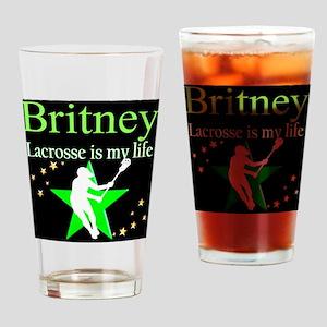 LACROSSE GIRL Drinking Glass