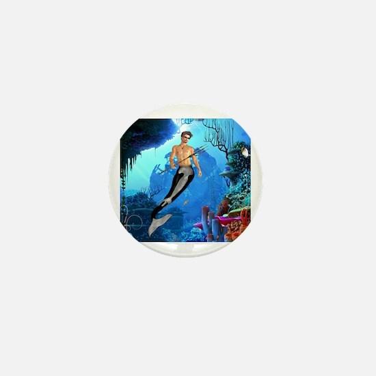 Funny Poseidon Mini Button