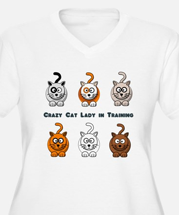Crazy Cat Lady In Training Plus Size T-Shirt
