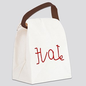 hate reverse love Canvas Lunch Bag