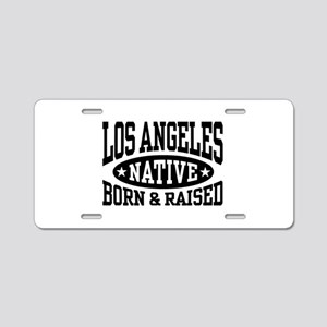 Los Angeles Native Aluminum License Plate
