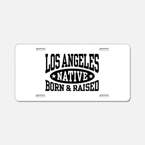 Los Angeles Native Aluminum License Plate