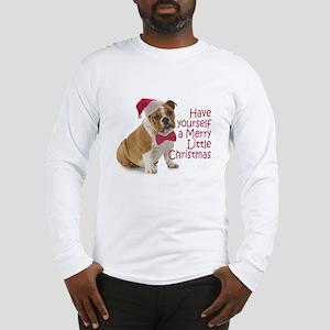 Santa Bulldog Long Sleeve T-Shirt