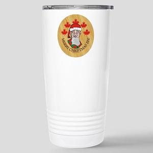 Merry Christmas Eh Stainless Steel Travel Mug