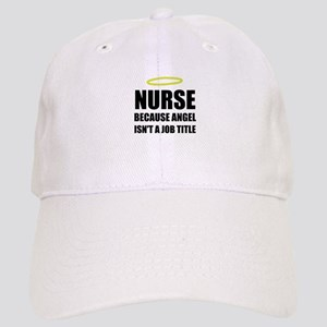 Nurse Angel Job Title Baseball Cap