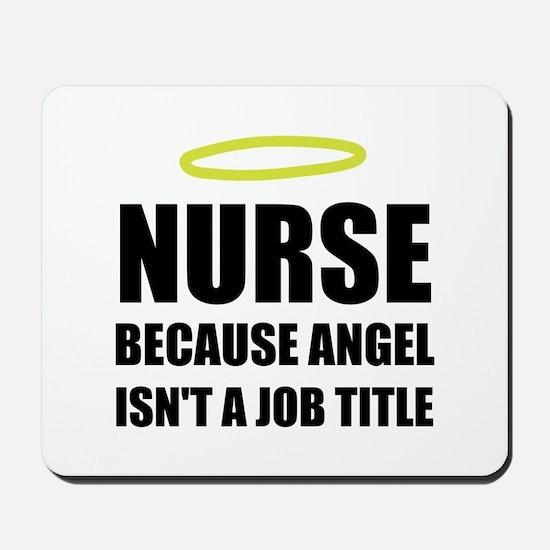 Nurse Angel Job Title Mousepad