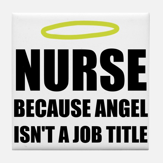 Nurse Angel Job Title Tile Coaster