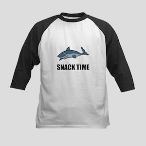 Snack Time Shark Baseball Jersey