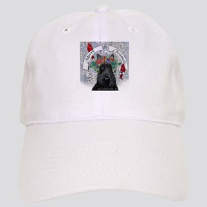 Scottie Christmas Snow Baseball Cap
