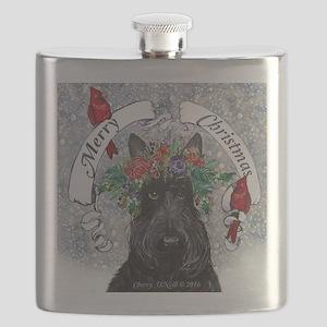 Scottie Christmas Snow Flask