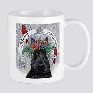 Scottie Christmas Snow Mugs
