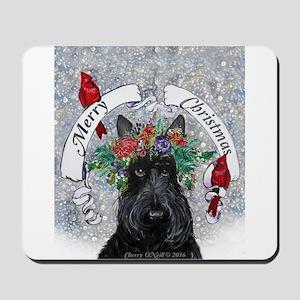 Snow Scottie Christmas Mousepad