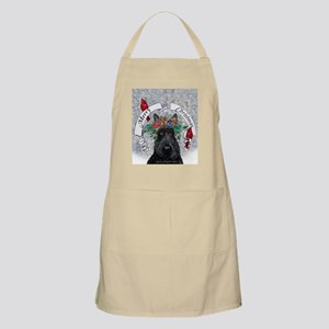 Snow Scottie Christmas Apron