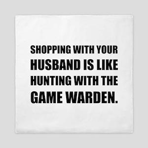 Shopping Husband Hunting Game Warden Queen Duvet