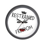 RESTRAINED FREEDOM Wall Clock