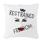 RESTRAINED FREEDOM Woven Throw Pillow