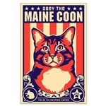 Obey the Maine Coon Cat! Large Poster