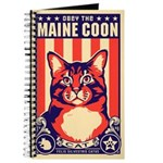 Obey the Maine Coon Cat! Propaganda Journal