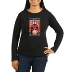 Maine Coon Cat! Women's Long Slv Dark Tee