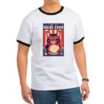 Obey the Maine Coon Cat! Men's Ringer T