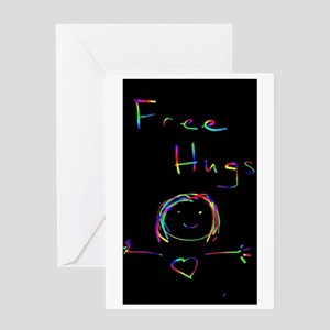 Free Hugs Arms Wide Greeting Cards