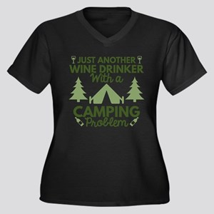 Wine Drinker Camping Plus Size T-Shirt