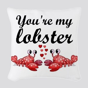 Lobster Woven Throw Pillow