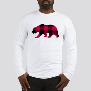 Buffalo Plaid Bear Long Sleeve T-Shirt