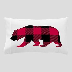 Buffalo Plaid Bear Pillow Case