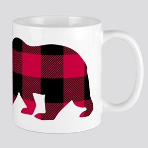 Buffalo Plaid Bear Mugs