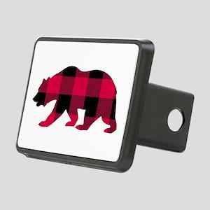 Buffalo Plaid Bear Rectangular Hitch Cover