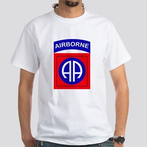 82nd Airborne Division Logo White T-Shirt