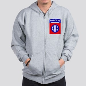 82nd Airborne Division Logo Zip Hoodie