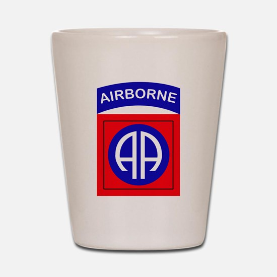 82nd Airborne Division Logo Shot Glass
