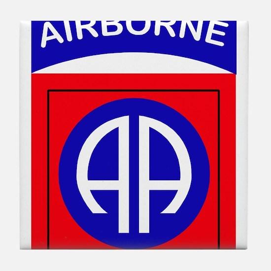 82nd Airborne Division Logo Tile Coaster