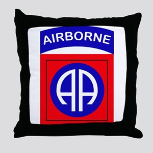 82nd Airborne Division Logo Throw Pillow