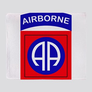82nd Airborne Division Logo Throw Blanket