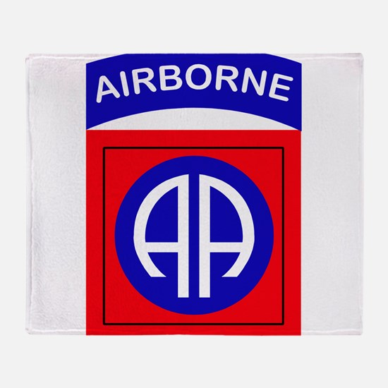 82nd Airborne Division Logo Throw Blanket