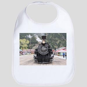Steam train engine, Silverton, Colorado, Baby Bib