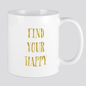 Gold Find Your Happy Mugs